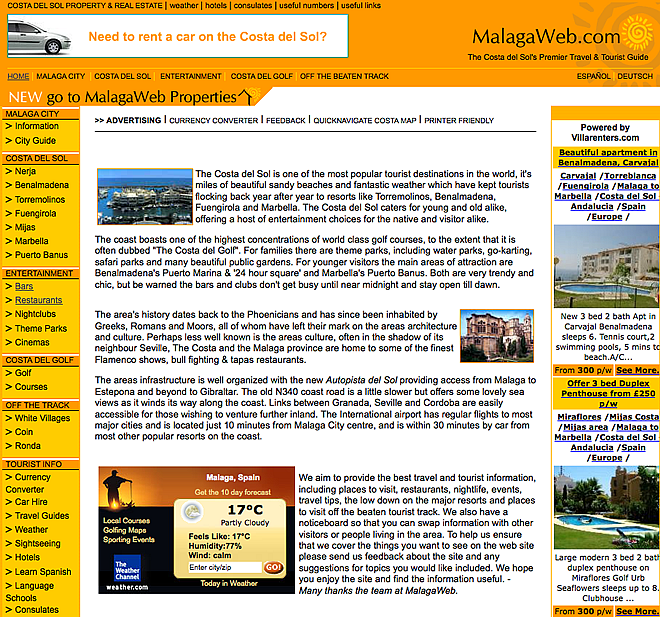 MalagaWeb.com screenshot